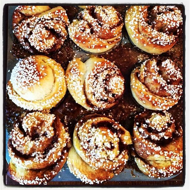 Cinnamon Rolls with Pearl Sugar