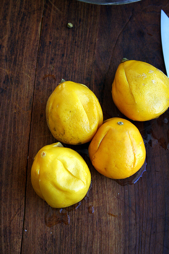 boiled lemons