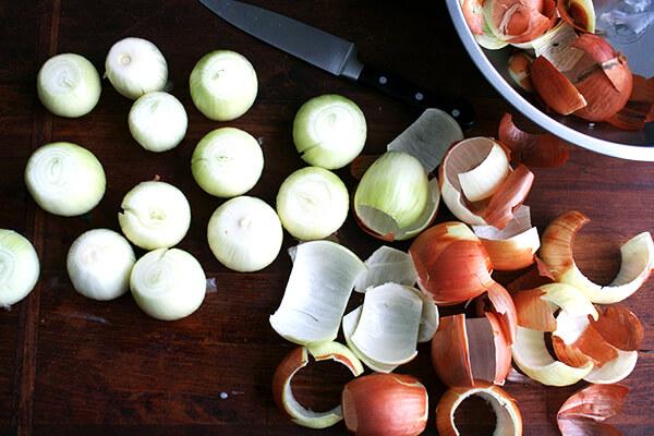 onions, peeled