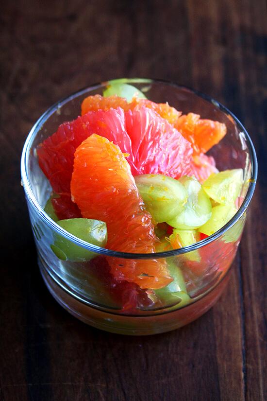 Orange, Grapefruit & Green Grape Compote