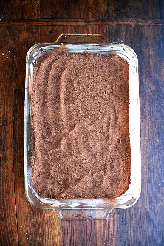 adding the cocoa & brown sugar