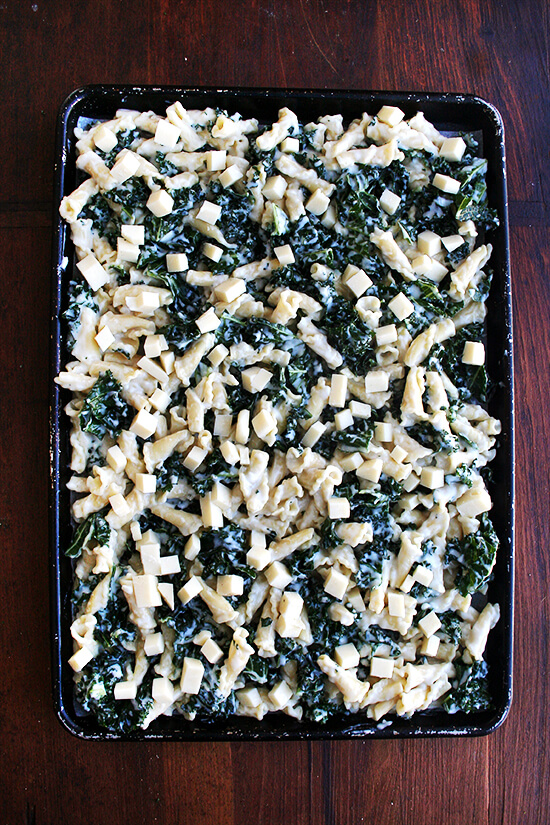 topping with fontina