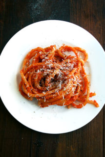 Bucatini with Butter-Roasted Tomato Sauce