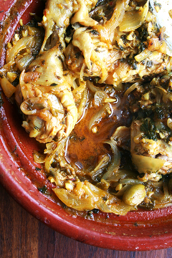 Chicken with Preserved Lemons & Green Olives