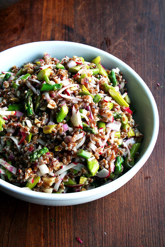 spring wheat berry salad