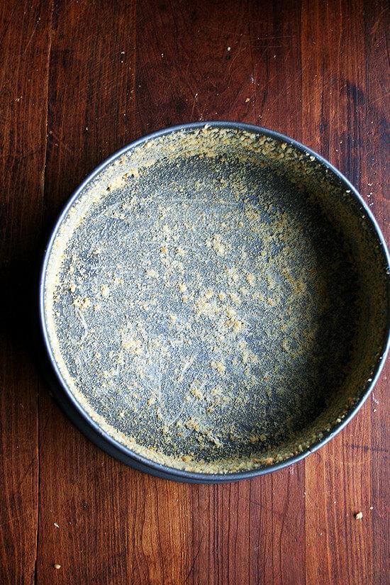 crumb-coated pan