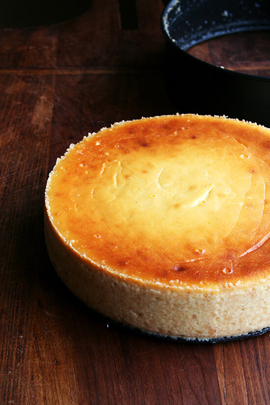virtues of this silky lemon-ricotta cheesecake, made with both ricotta ...
