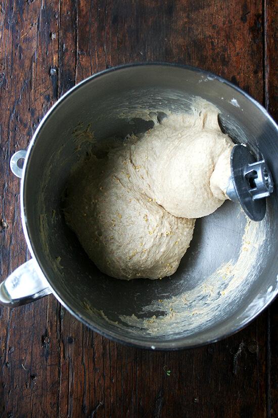 dough around hook