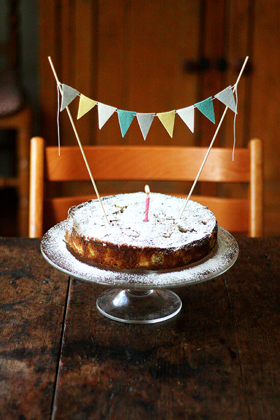 rhubarb birthday cake