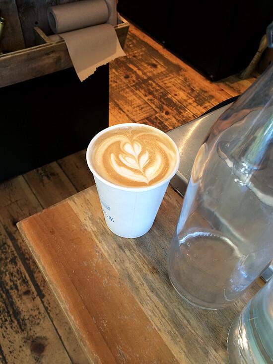 latte at Arts Cafe