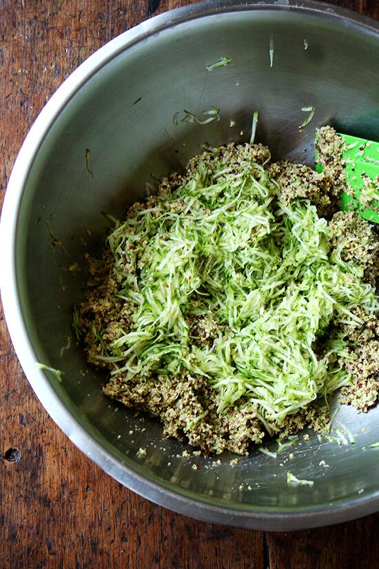 grated zucchini added