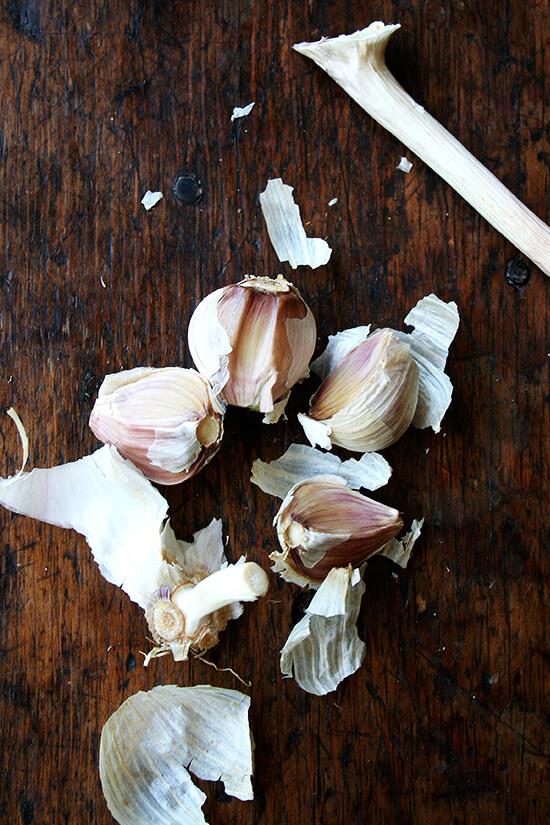 CSA garlic