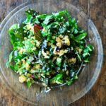 Swiss Chard Salad with Lemon, Parmesan & Breadcrumbs