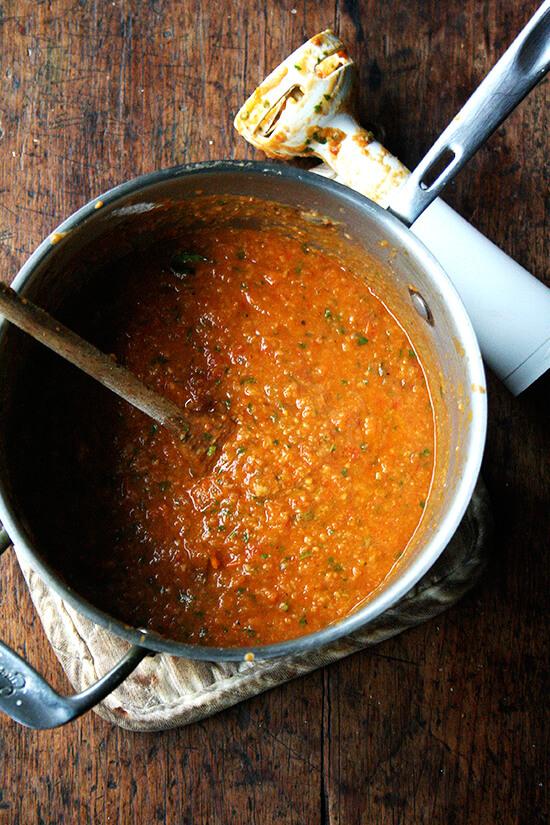 puréed soup