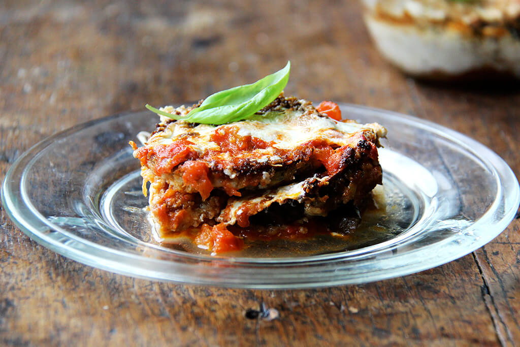 Crispy Eggplant Rounds & Eggplant Parmesan