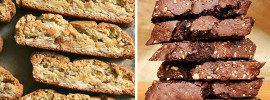 Vanilla Almond Biscotti, Chocolate Biscotti