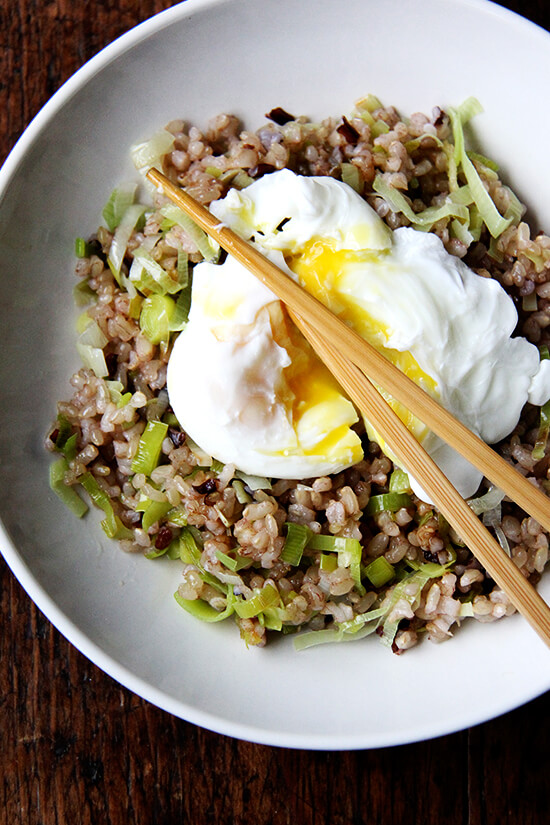 Ginger Fried Rice with Poached Egg - alexandra's kitchen