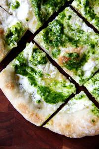 Ramp Green Pesto & Pizza   Pickled Ramps