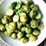New Potatoes with Green Harissa