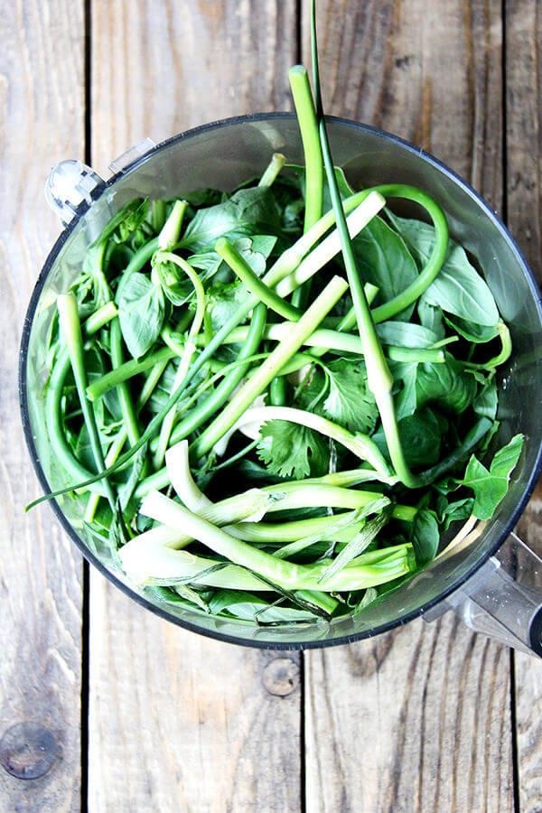 garlic scape chimichurri