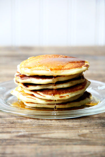 Pancakes have never been my forte, but for about a year now, I've had success with the these buttermilk pancakes, which are delicious and relatively simple to make. These have become a family fave and, with the griddle on hand, a weekly staple. The batter makes enough for a ton of pancakes and stores just fine in the fridge. // alexandracooks.com