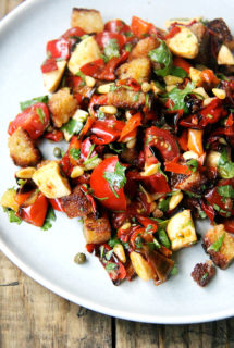 """Magic"" Peppers Salad with Pine Nuts & Capers"