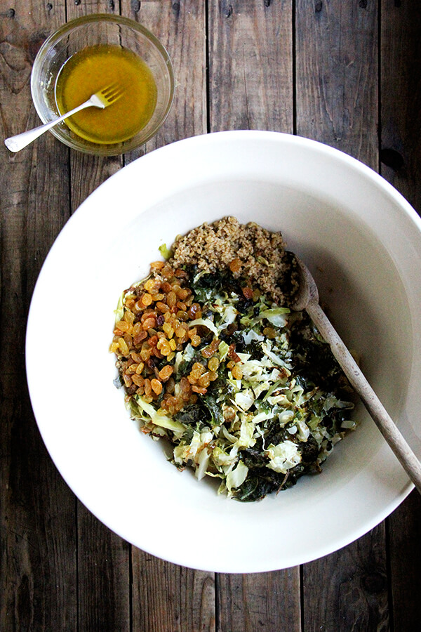 This freekeh salad is my favorite kind of recipe, one whose assembly is fluid — as the vegetables roast in the oven, the freekeh cooks stovetop, and you make the dressing — and whose payoff is big: minimal mess and a meal that's at once light and comforting. // alexandracooks.com