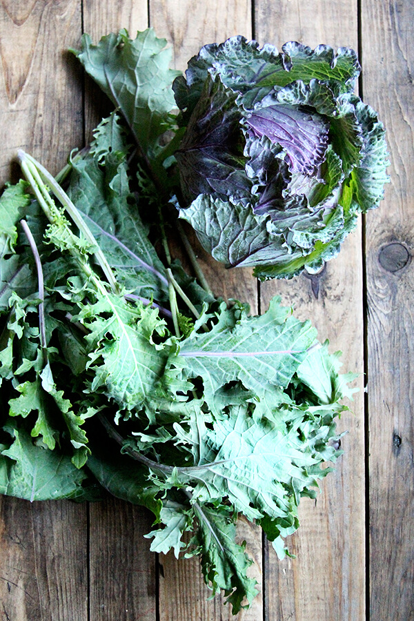 kale and cabbage
