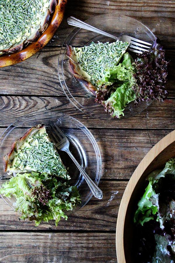 dinner: quiche & salad