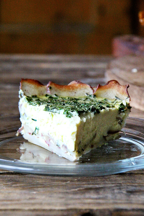Tartine's Quiche, Potato Crusted