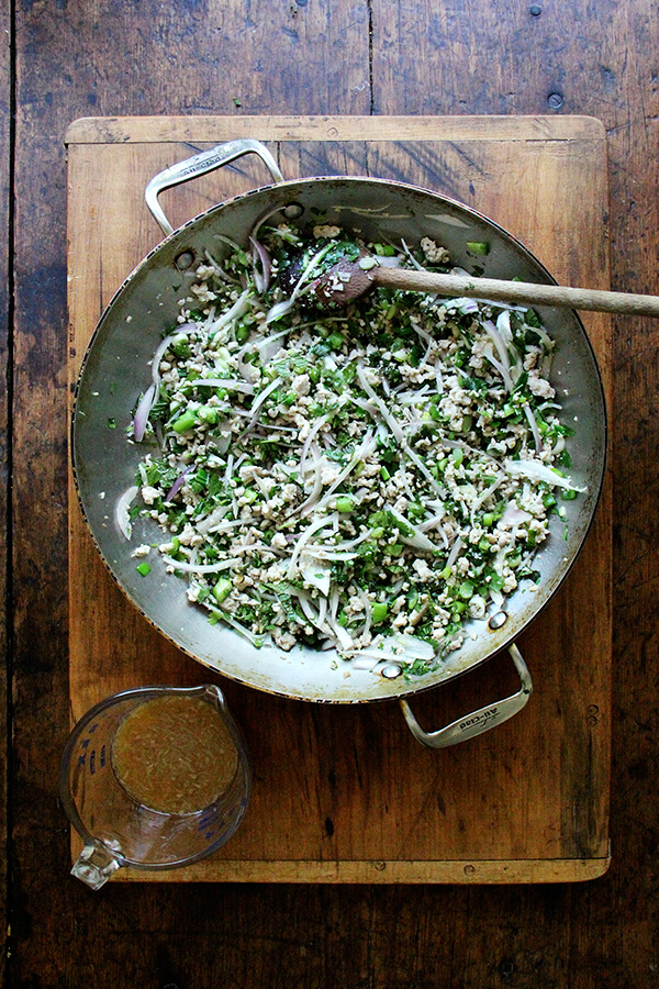 larb gai — Thai chicken salad