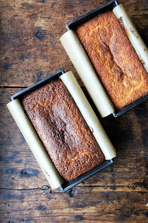 lemon-semolina cakes, two ways