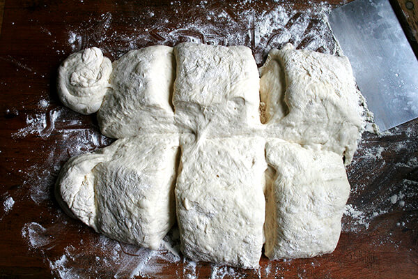 dough, divided