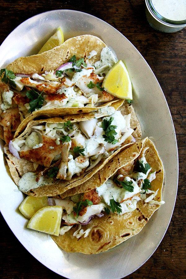 Skillet-Grilled Fish Tacos