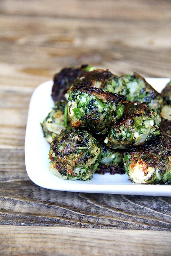 fried greens meatless balls