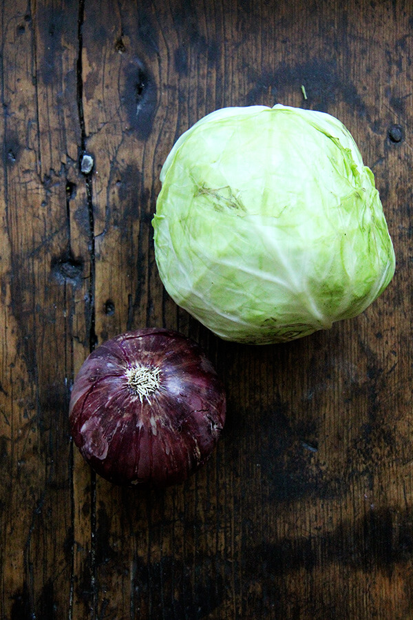 onion and cabbage