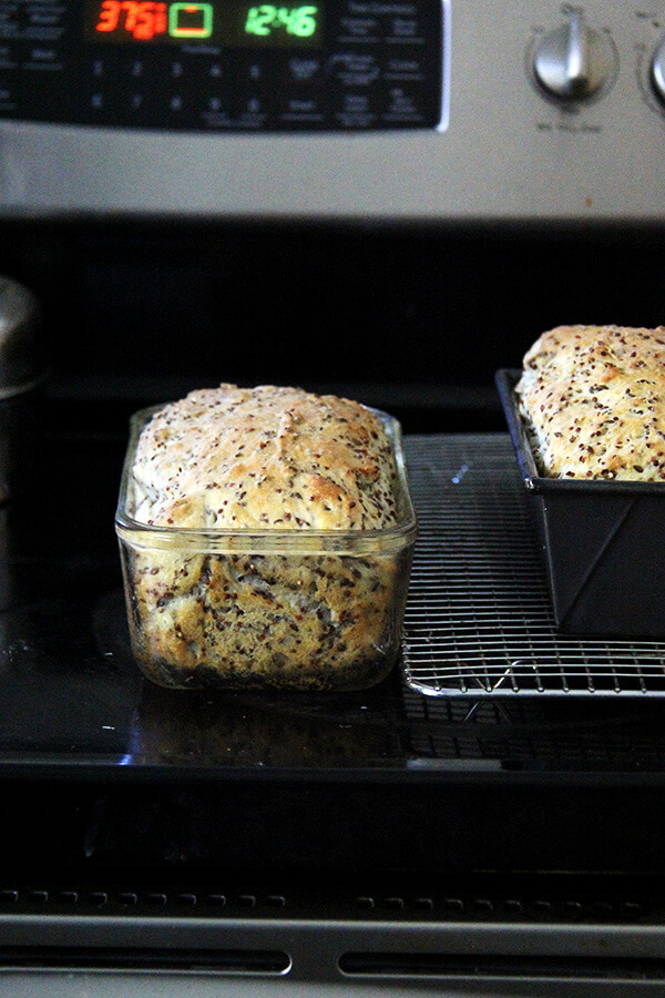 baked quinoa and flax bread