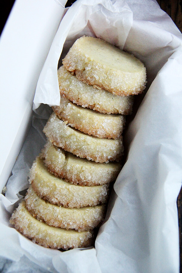 cookies for kindness: Dorie Greenspan's Vanilla Bean Sablés