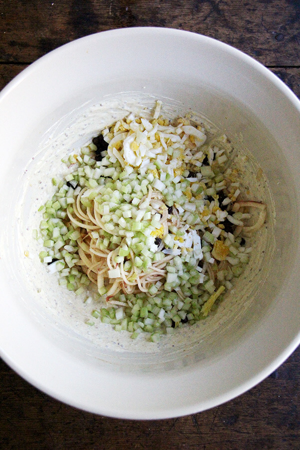 apple-egg salad