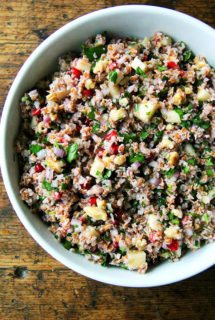 Fall Tabbouleh with Apples, Walnuts, and Pomegranates
