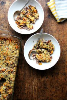 Quinoa Bake with Roasted Butternut Squash and Onions