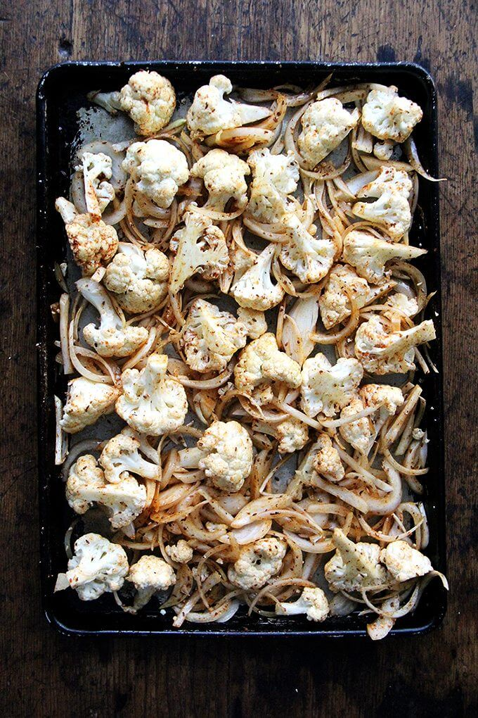 "Sheet Pan Chicken and Cauliflower ""Shawarma"" - Alexandra's Kitchen"