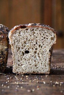 Seedy Sandwich Bread with Sprouted Wheat