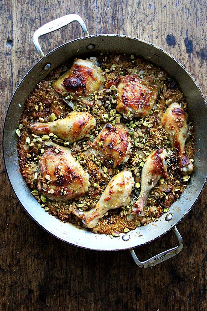 This Moroccan chicken and rice with dates, harissa and pistachios a mix of sweet and spicy, smoky and crunchy, and best of all it couldn't be simpler to prepare. // alexandracooks.com