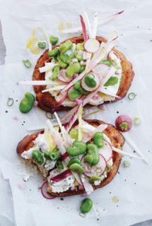 Bread Toast Crumbs { The Trailer Part II: Toast } + Endive & Fava Salad Tartine with Herbed Ricotta